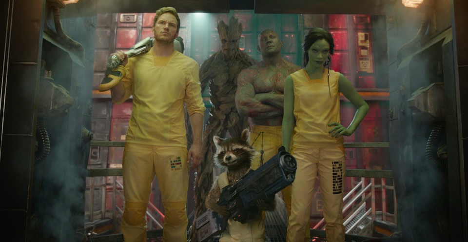 Guardians of the Galaxy group photo