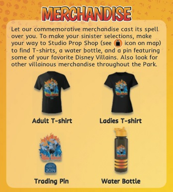 Villains Unleashed merchandise