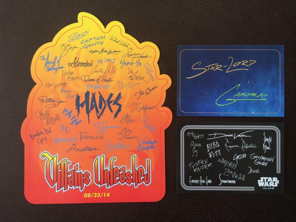 villains unleashed autograph cards