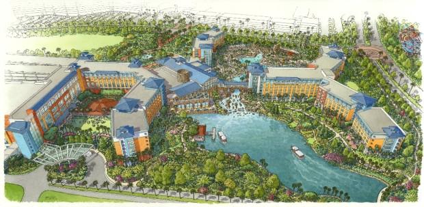 Loews Sapphire Falls Resort at Universal Orlando Rendering