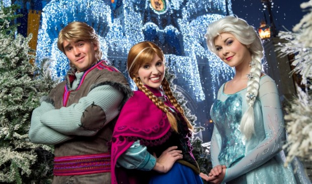 Frozen at Walt Disney World during the holidays
