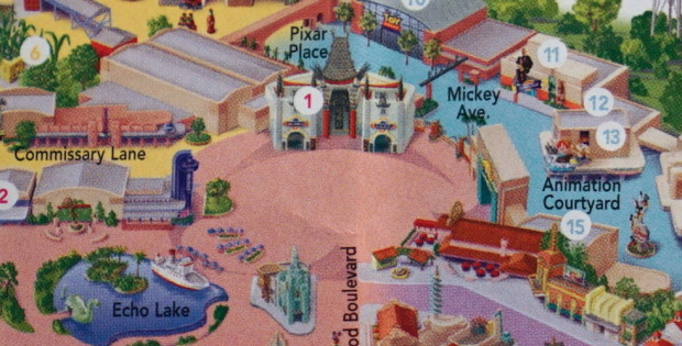 Hollywood Studios map without sorcerer hat