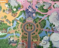 magic kingdom hub on map
