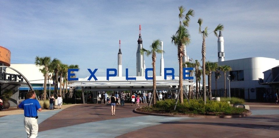 Kennedy Space Center complex entrance