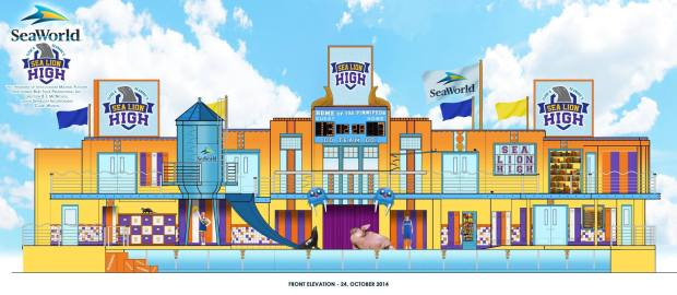 Sea Lion High SeaWorld concept art