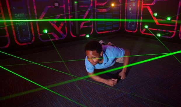 Teenage Mutant Ninja Turtle laser maze at Nickelodeon Suites Resort