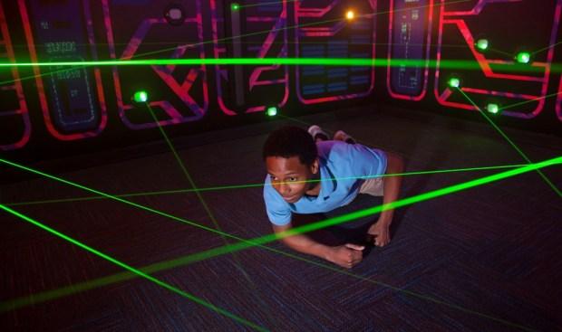 Teenage Mutant Ninja Turtle laser maze at Nickelodeon Suites Resort