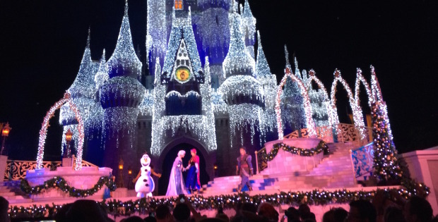 frozen castle lighting