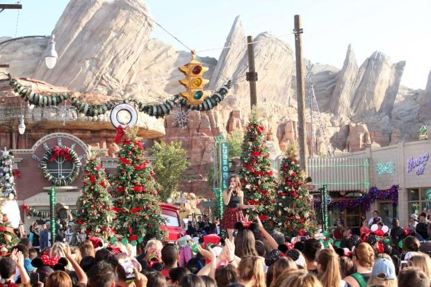 Lucy Hale Disney Parks Frozen Christmas Celebration
