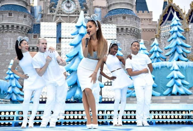 Disney Parks Frozen Christmas Celebration Ariana Grande