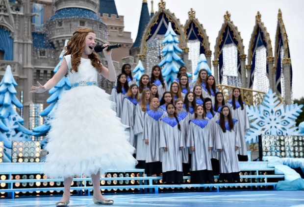 Lexi Walker Disney Parks Frozen Christmas Celebration