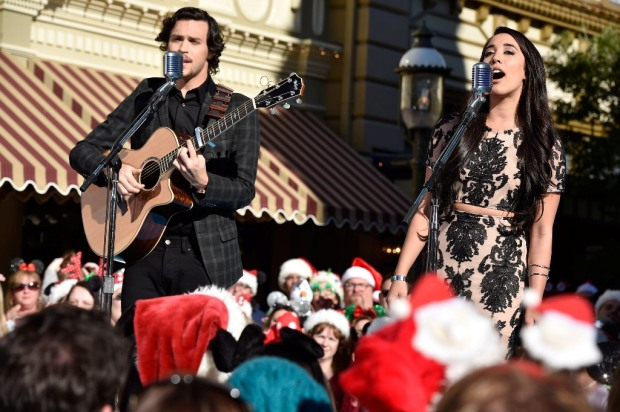 Alex Kinsey and Sierra Deaton Disney Parks Frozen Christmas Celebration