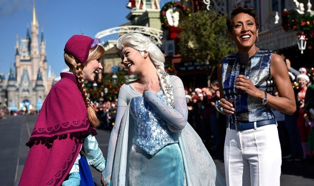 Disney Parks Frozen Christmas Celebration anna elsa robin roberts