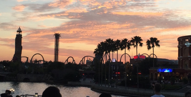 Sunset over Universal Orlando