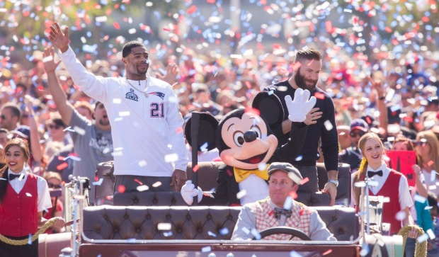 New England Patriots Disneyland parade
