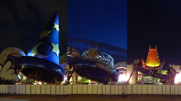 3 Phases Of Sorcerer's Hat at Disney's Hollywood Studios