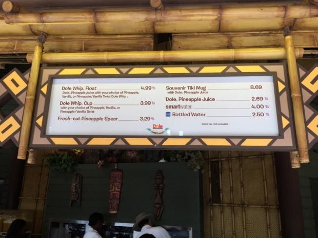 aloha isle refreshments magic kingdom menu