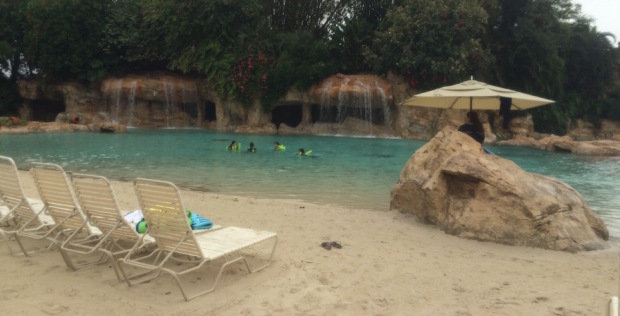 Rainy discovery cove beach