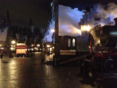 wizarding world at night