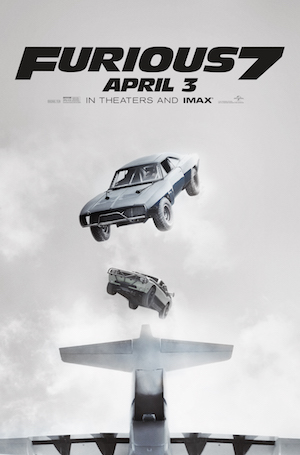 Furious 7 movie poster flying cars