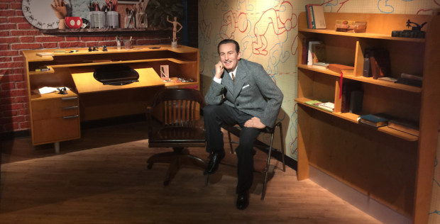 Walt disney wax figure