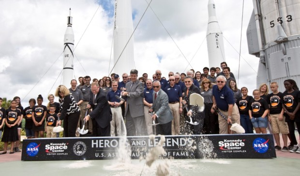 Heros and Legends groundbreaking nasa