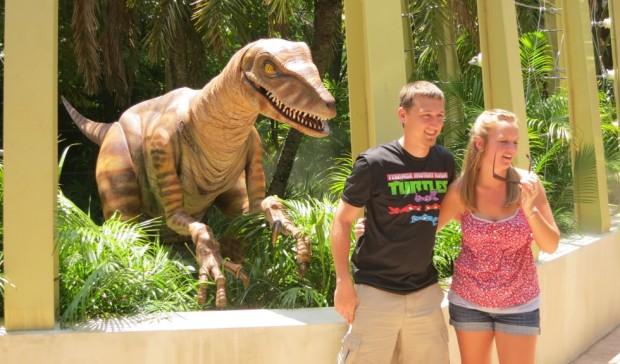 raptor encounter jurassic park universal orlando islands of adventure
