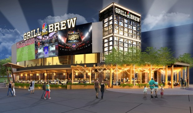 NBC Sports Grill and Brew Exterior Universal Orlando CityWalk