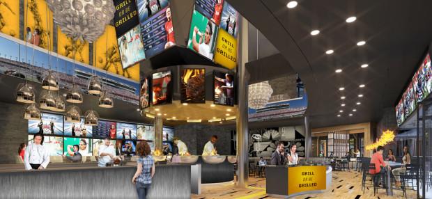 NBC Sports Grill and Brew Interior Universal Orlando CityWalk
