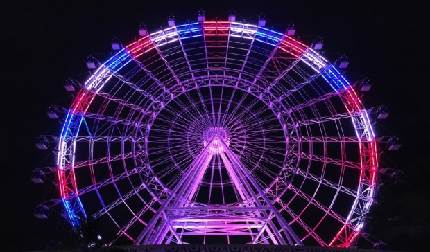 orlando eye fourth of july lighting