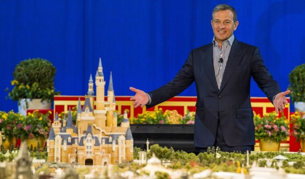 Bob Iger Shanghai Disneyland model