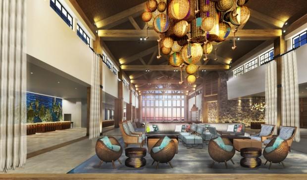 Universal Orlando Sapphire Falls Resort Lobby