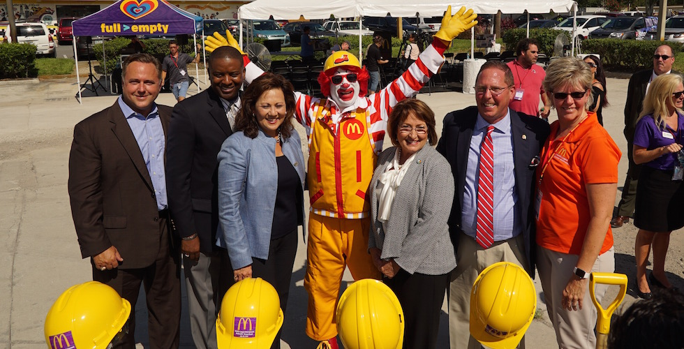 Mcdonalds ground breaking with ronald