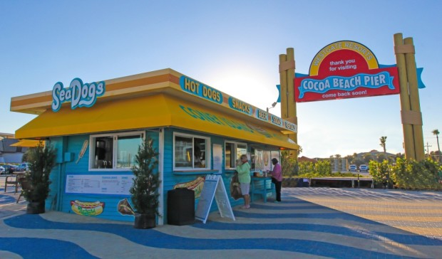 Cocoa Beach Pier Sign Sea Dogs