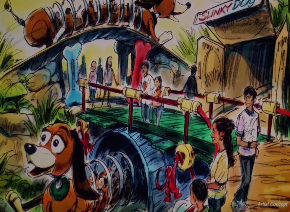 Toy Story Land concept slinky