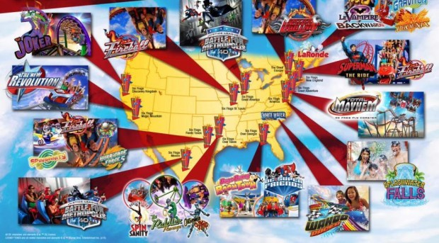 Six Flags 2016 rides attractions