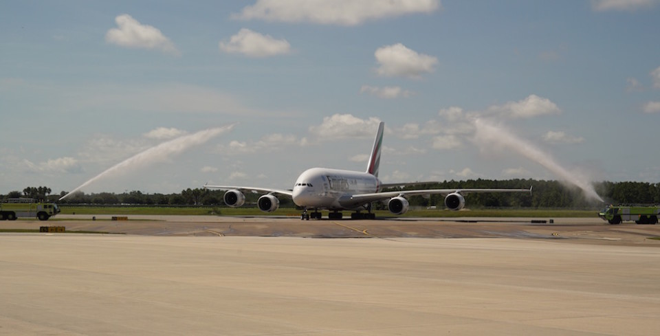 emirates first flight to orlando