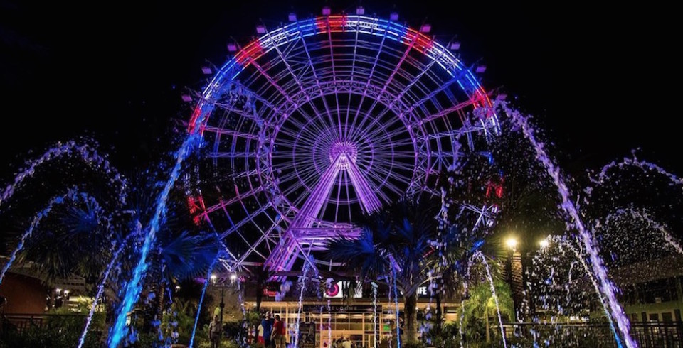 orlando eye red white blue