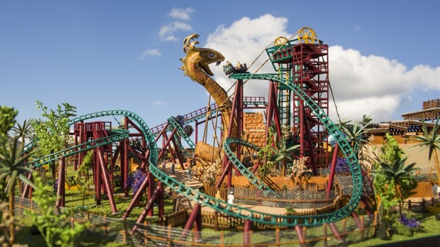 busch gardens reveals details and model for cobra 39 s curse