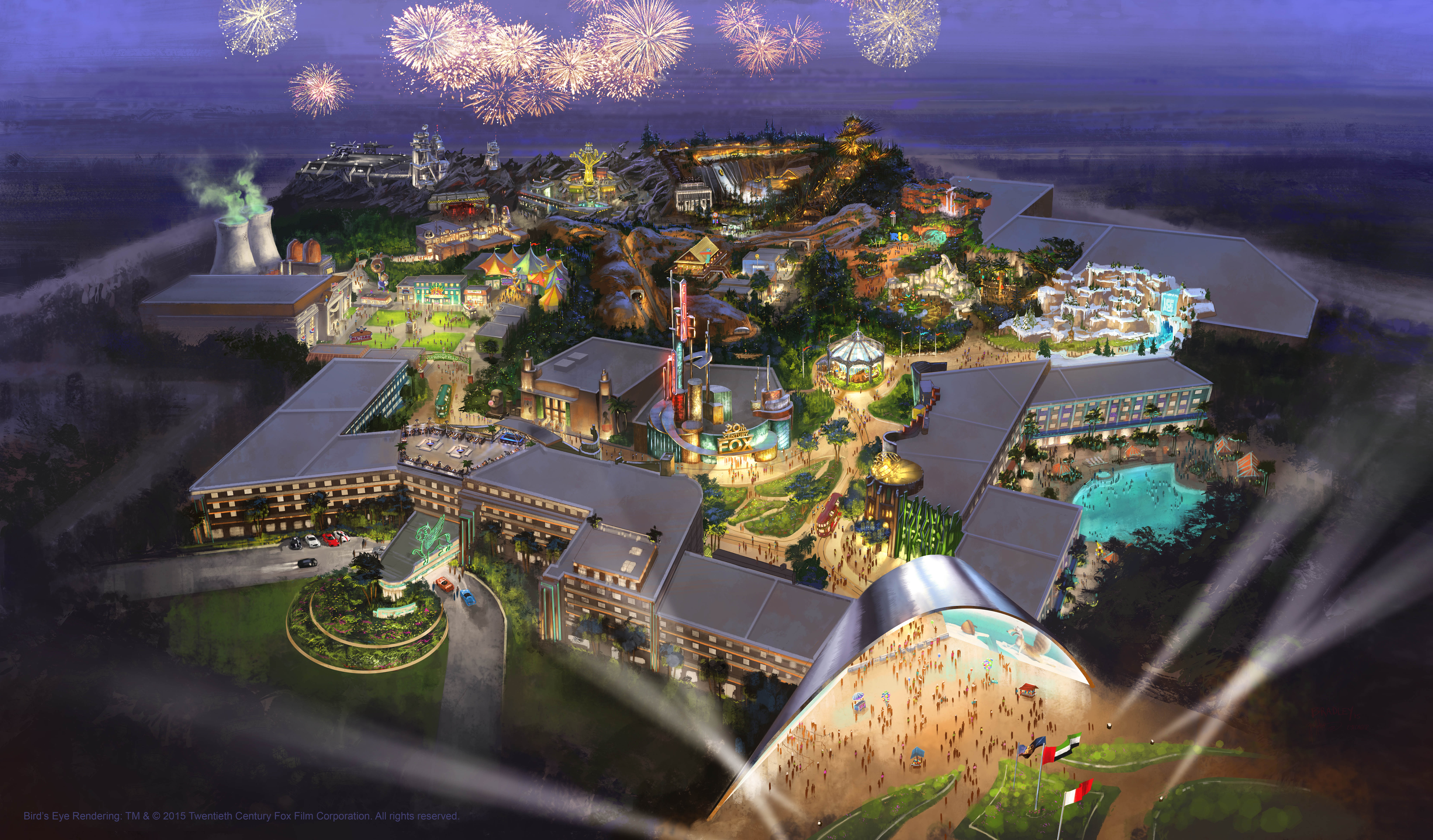Full res 20th Century Fox resort theme park Dubai