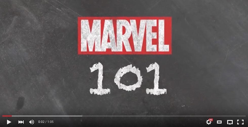Marvel 101 video series to educate about Marvel history