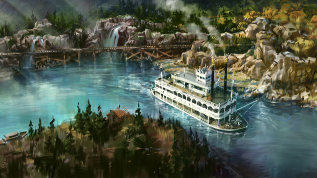 disneyland rivers of america concept art