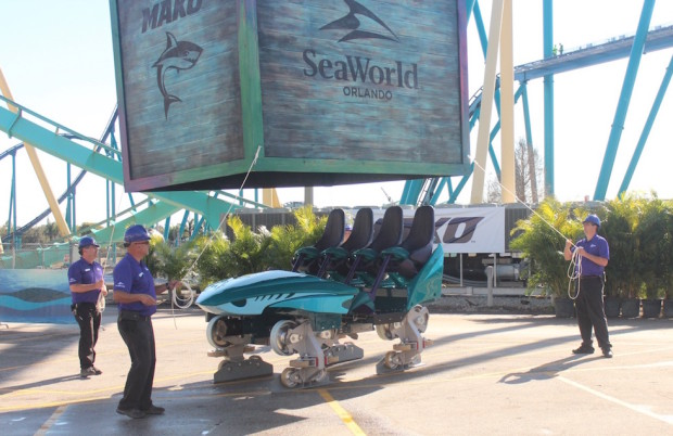Mako roller coaster car