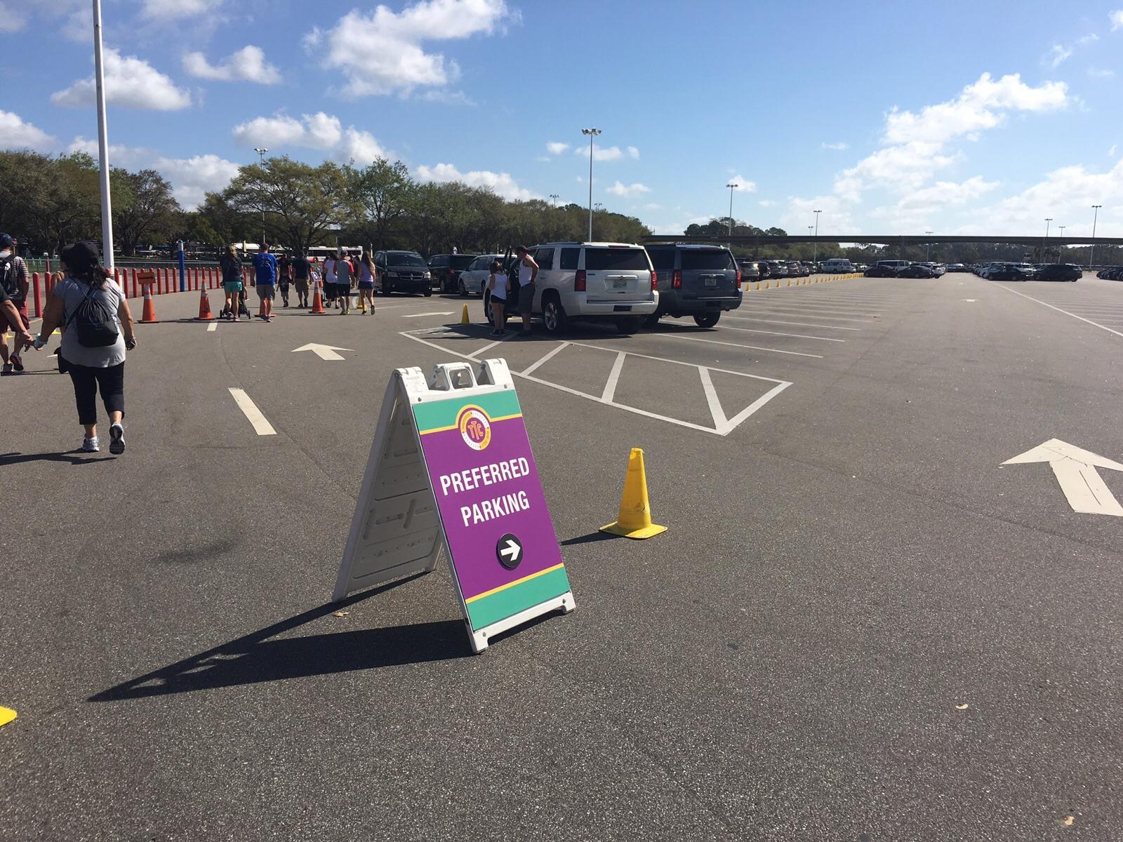 Walt Disney World preferred parking Magic Kingdom