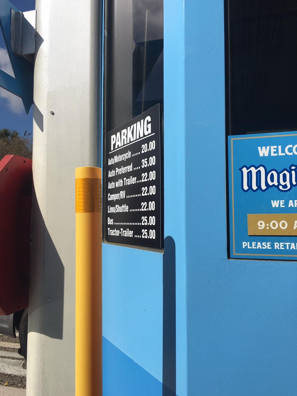 Preferred Parking Walt Disney world magic kingdom