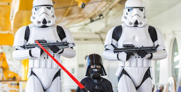 Star Wars Day at Sea characters