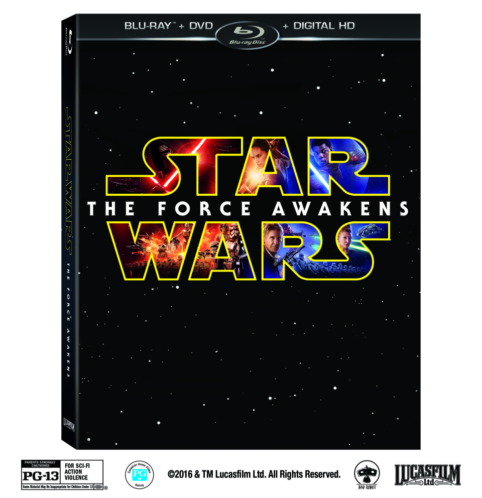 Star Wars The Force Awakens Blu-Ray DVD Digital HD