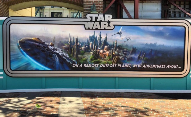 star wars land construction wall art disney's hollywood studios