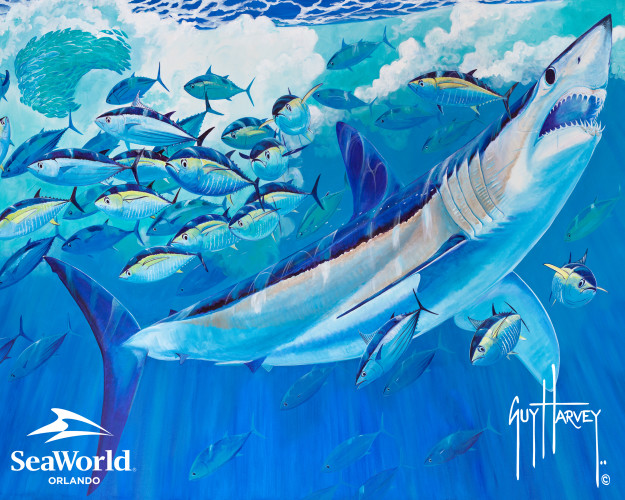 Guy Harvey SeaWorld Mako