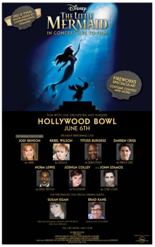 Jodi Benson Little Mermaid Hollywood Bowl